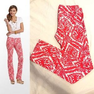 Lilly Pulitzer Worth Straight Jeans Island Coral